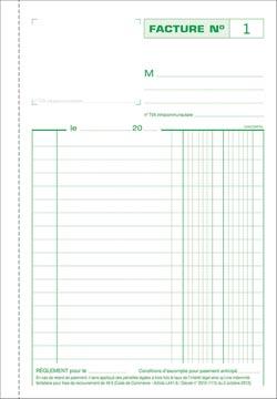 Exacompta facturen, ft 21 x 14,8 cm, tripli, franstalig
