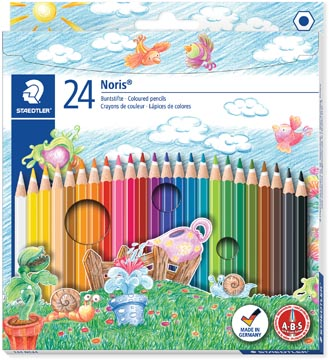 Staedtler kleurpotlood Noris Club 24 potloden in een kartonnen etui