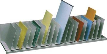 Paperflow sorteervak met vaste tussenschotten, schuin, 20 vakken, breedte 111,5 cm
