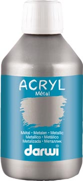 Darwi Metal effect acrylverf zilver