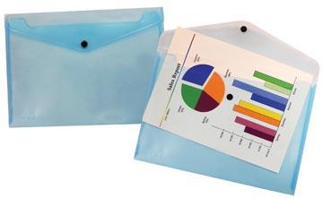 Beautone documentenmap, A4, transparant blauw