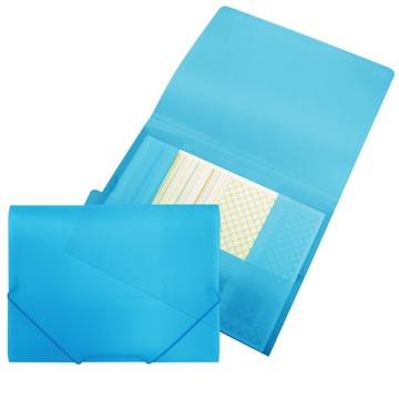 Beautone elastomap met kleppen, ft A4, blauw