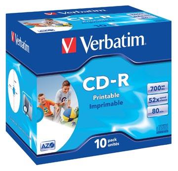 Verbatim CD recordable, doos van 10 stuks, individueel verpakt (Jewel Case)