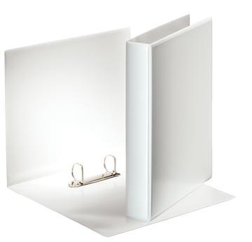 Esselte personaliseerbare ringmap, rug van 5,1 cm, 2 D-ringen 30 mm, wit