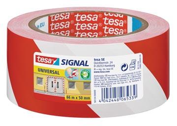 Tesa waarschuwingstape Universal, ft 50 mm x 66 m, rood/wit