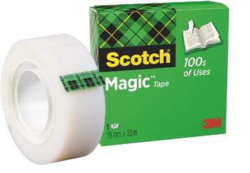 Scotch plakband Magic Tape ft 19 mm x 33 m