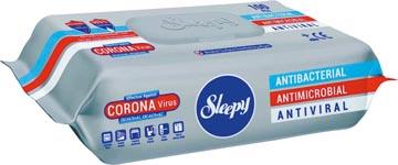 Desinfecterende antibacteriële vochtige doekjes, voor oppervlakken, pak van 100 stuks