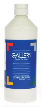 Gallery plakkaatverf, flacon van 500 ml, wit